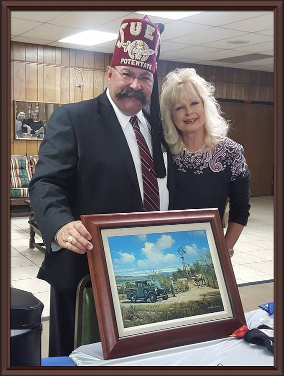 Suez Potentate Time Dillon and his Lady Nancy