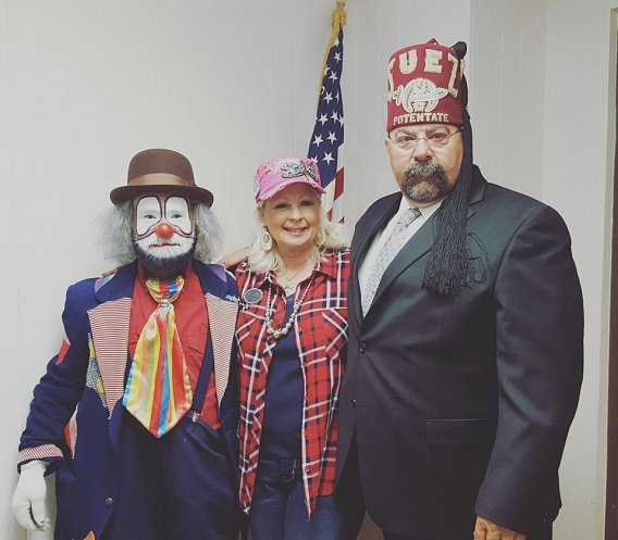 Bobby Holland with the Potentate and his Lady