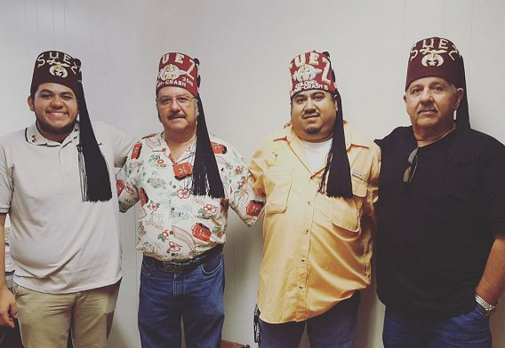 a family of Shriners