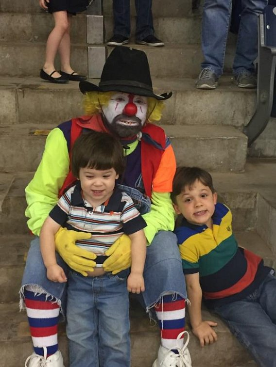 Klowning around with Noble Bennett's boys