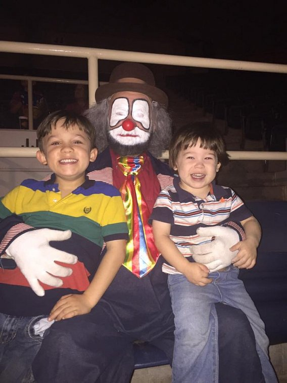 Bobby Holland Klowning around with Noble Bennett's boys